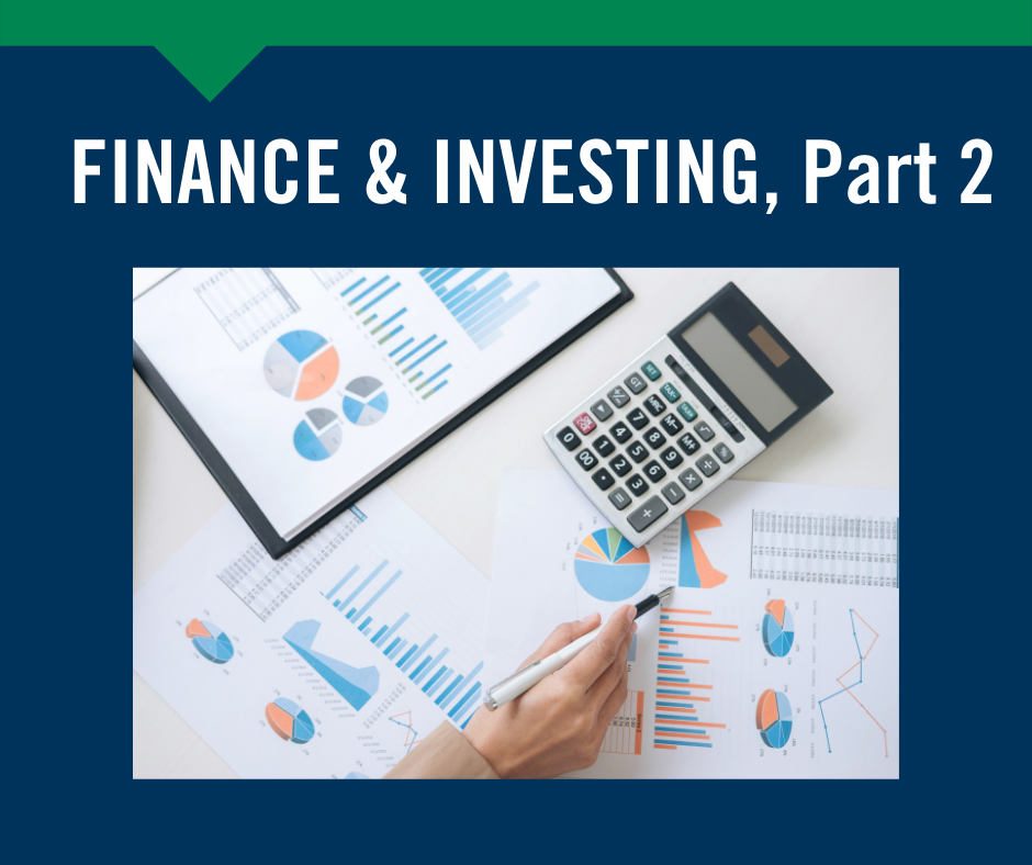 Finance and Investing Part 2, May 19th Devens