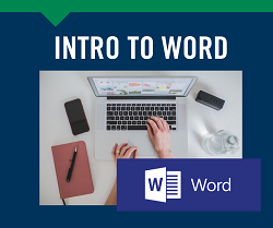 Intro to Word, April 6th & 8th Gardner