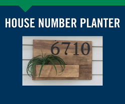 House Number Planter 6/5